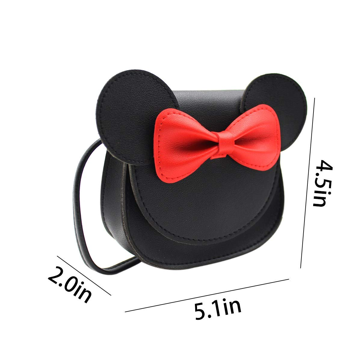 ZGMYC Kids Toddlers Bowknot Crossbody Purse Small Shoulder Bag Satchel with Cartoon Ears by ZGMYC (Image #7)