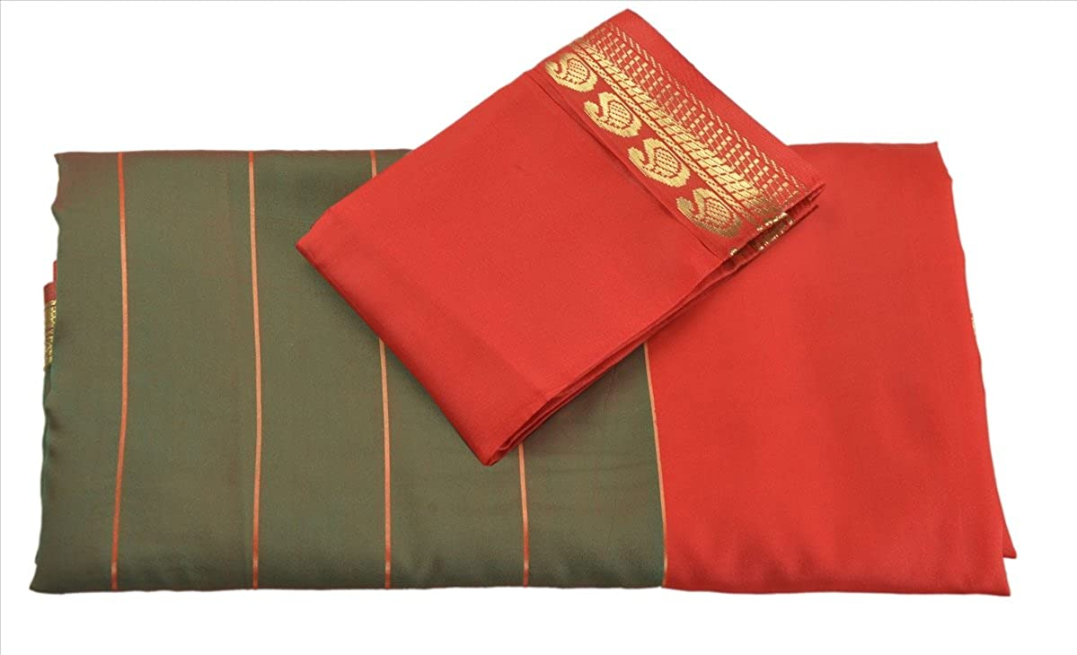 SNS Woven Indian Art Silk with Blouse Piece Multi Color Saree SR-140