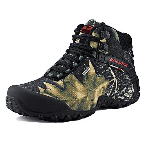 ff0db4e62f676 Botas De Montaña De Alta Elevación para Hombres Botas De Caminar Zapatos A  Prueba De Golpes Verano Deportes Al Aire Libre Zapatos Antideslizante  Grande  ...