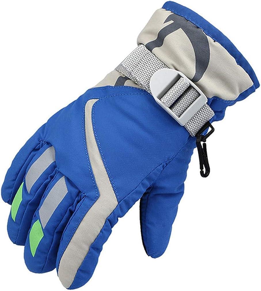 Ski Gloves Kids Waterproof Winter Gloves