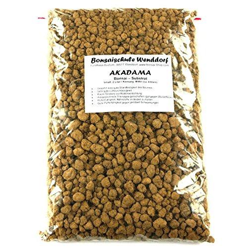 Akadama, Bonsai soil, 2 liter, Double line brand, medium grain Bonsaischule Wenddorf