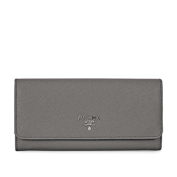 f392b143e3fc29 Prada Continental Saffiano Leather Wallet - Marmo: Amazon.ca: Watches