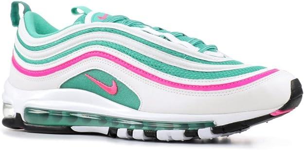 tema Existe Creación  Zapatillas NIKE Air MAX 97 Blanco/Verde/Rosa Hombre: Amazon.es: Zapatos y  complementos