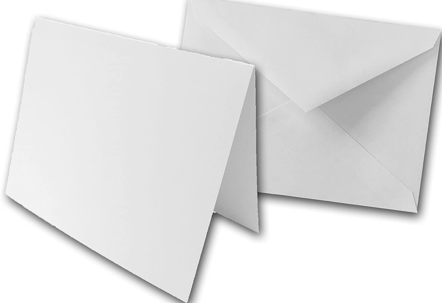 """Blank White Super Smooth A-5 (5""""x5"""") Folded Cards and Matching Envelopes -  5 pack DIY Cards"""