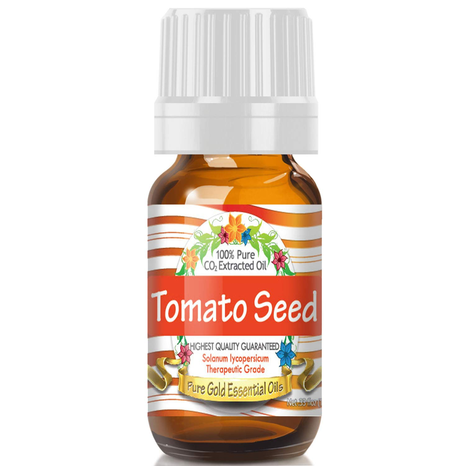 Pure Gold Tomato Seed Essential Oil, 100% Natural & Undiluted, 10ml