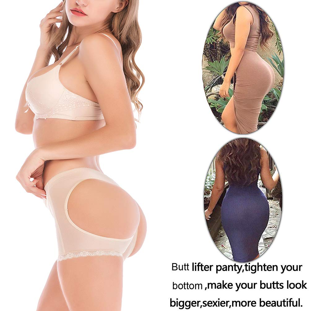 83f9edce788 Sexy Invisible Panty Butt Lift Shaper Butt Lifter Butt Enhancer Black  DODOING  Amazon.co.uk  Clothing
