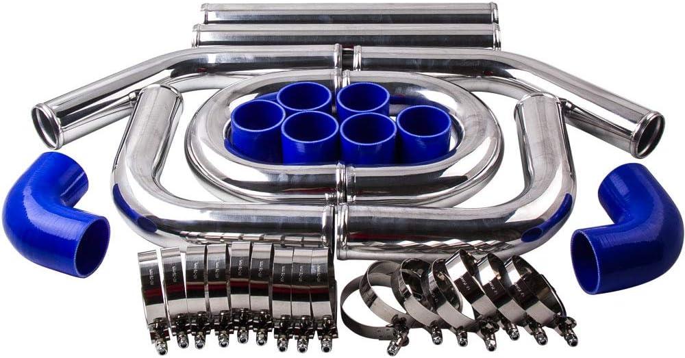 Autoshoppingcenter 2 5 Inch 64mm Aluminium Turbolader Intercooler Piping Kit Universal Ladeluftkühler Auto