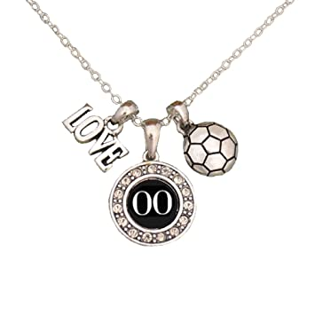 Amazon custom player id soccer necklace 00 one size custom player id soccer necklace 00 one size aloadofball Choice Image
