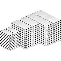 Imán de Neodimio, imanes cuadrados de 60 piezas en diferentes tamaños, imanes de tierras raras fuertes para manualidades…