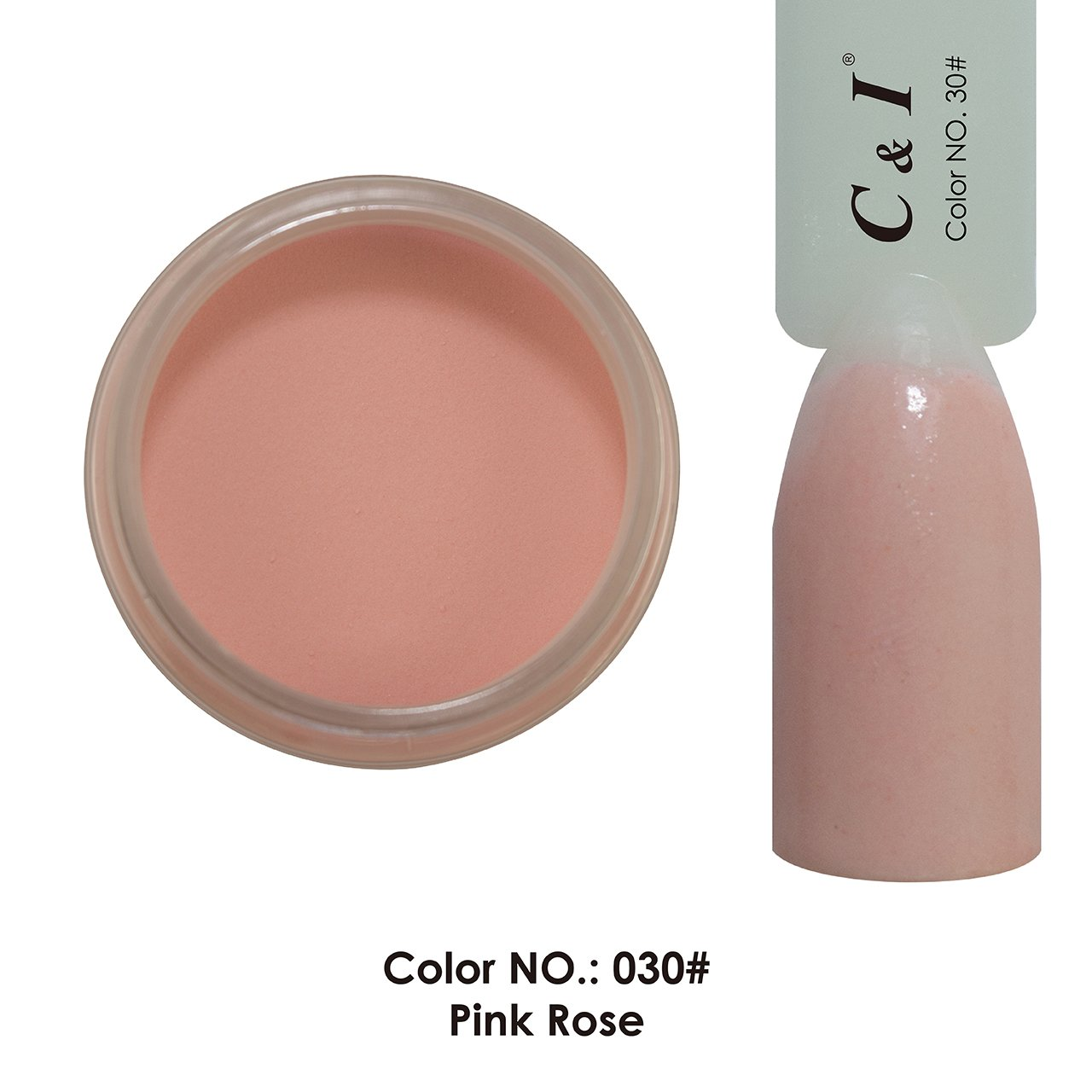 C & I Dipping Powder Color No.030 Pink Rose Naked Color System Fulei Trading
