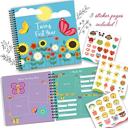 Baby Memory Book for Twins - The Only Baby Keepsake Journal for Documenting Your Twin