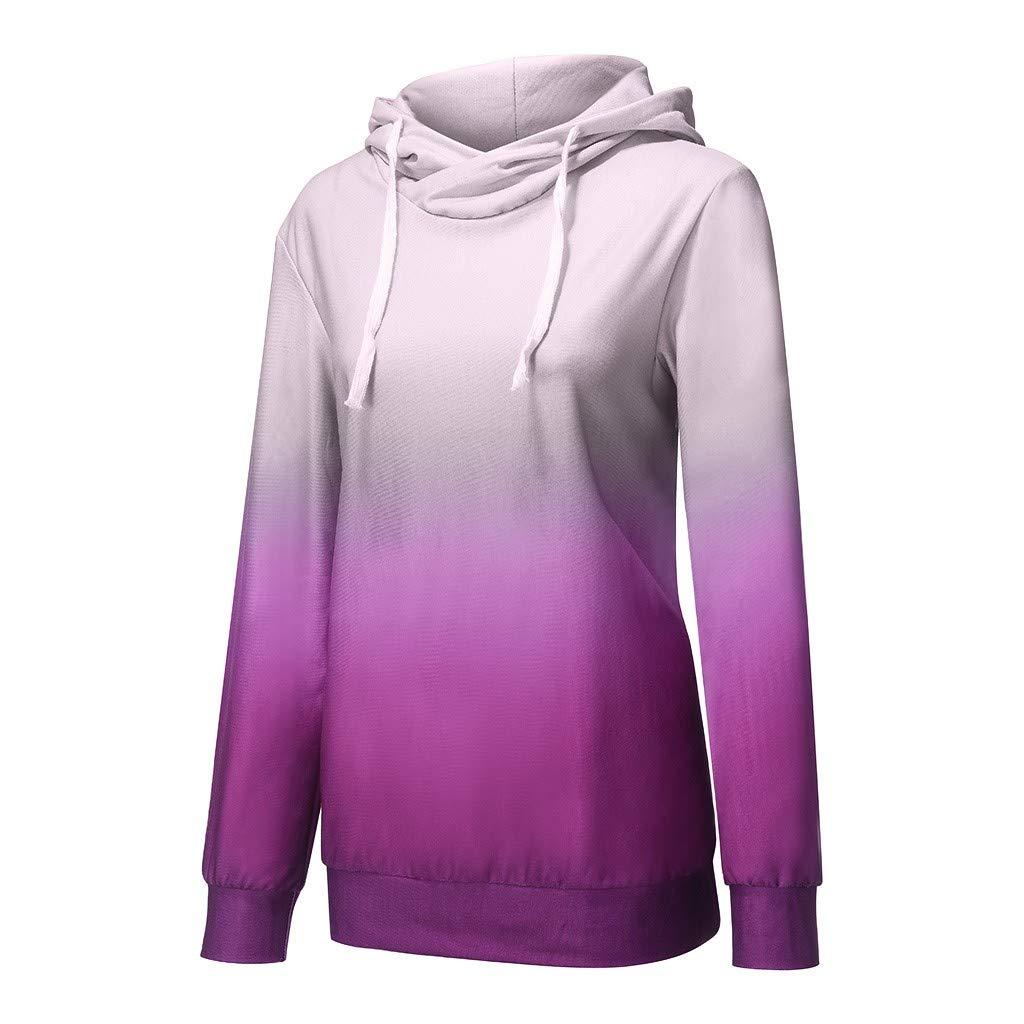 haoricu Women/'s Casual Hooded Sweatshirt Teen Girl Loose Tie-Dye Print Hoodies Ladies Basic Shirts