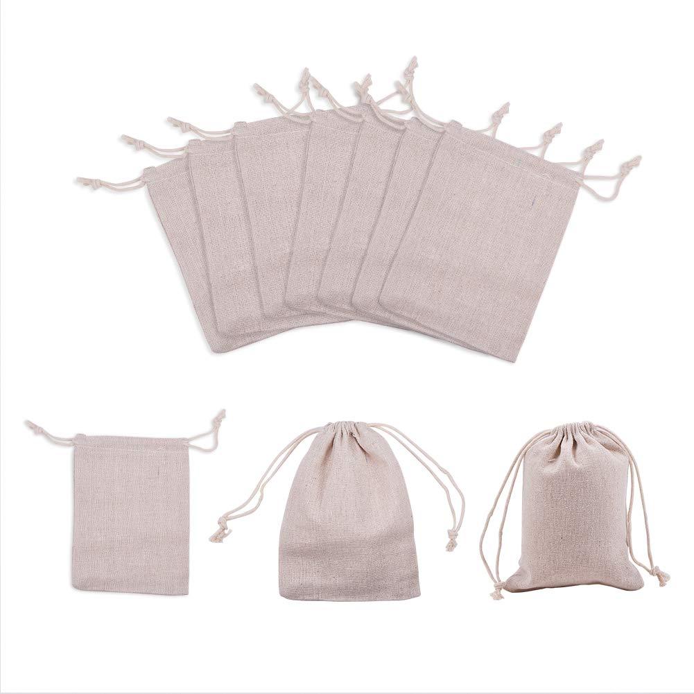 NBEADS 10PCS sacchetti regalo di cotone, grano, 17 x 11,9 cm 17x 11 9cm