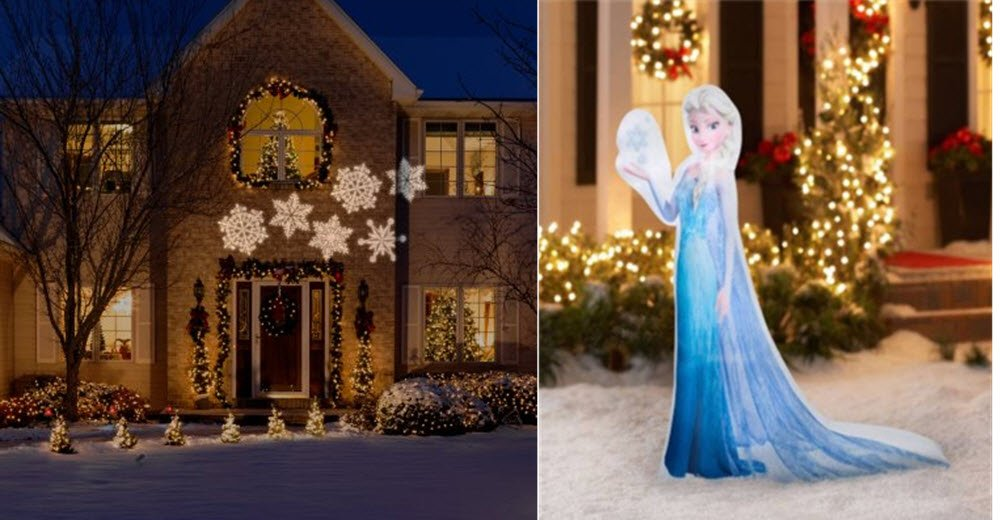 Frozen Elsa Photorealistic Inflatable 5', Olaf Inflatable 3.5' & Ornate Snow Flurry Whirl Motion Stake Light Bundle by Gemmy (Image #2)