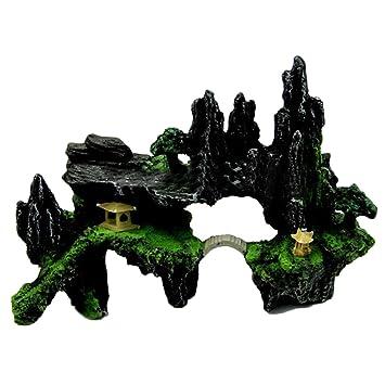 masterein decorativa en resina Fish Tank Rockery viento turbinas Acuario Pecera Decoración: Amazon.es: Productos para mascotas