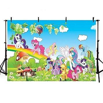 Amazon.com: Fotografía fondo y el pequeño pony cumpleaños ...