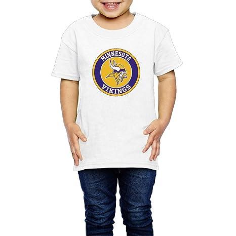 6cb3bb5a Kids Minnesota Vikings Football Logo T-shirt 5-6 Toddler White (2-6 ...