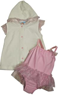 Baby Buns Girls Little Lady Terry Cover Up Swim-Set