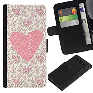 SAMSUNG Galaxy S3 III / i9300 / i747 Modelo colorido cuero carpeta tirón caso cubierta piel Holster Funda protección - Floral Flowers Love Girl Spring