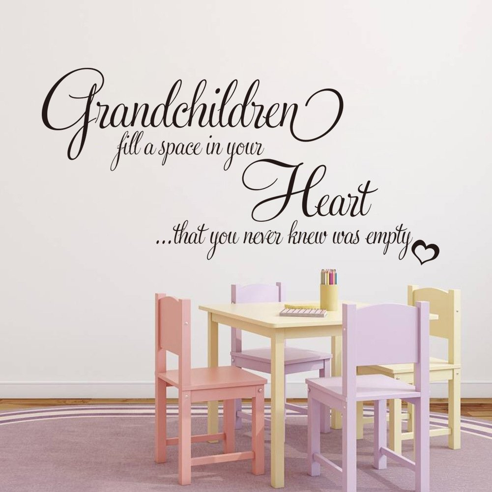 Dragon Honor Grandchildren Fill A Space Quote for Kids Room Living Room Vinyl Mural Wall Sticker Decals Decoration 8352