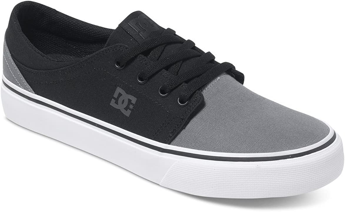 DC Shoes Herren Trase TX Low-Top Sneaker Grau Schwarz Grau