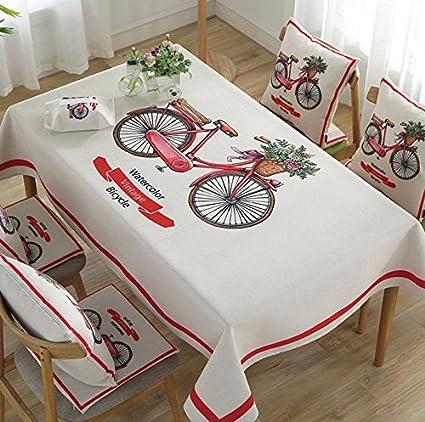 ZHUOBU Exquisito mantel de lino de algodón simple mesa de la bicicleta cubierta de la mesa
