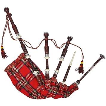 Escocesa Madera Real Highlands Rojo Vidaxl Gaita De Great Tartán f7yb6Yg
