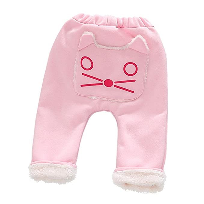 Koly 1-4 años niña niños otoño Invierno harén pantalones dibujos animados  gato bebé pantalones 27fb1c3fea73