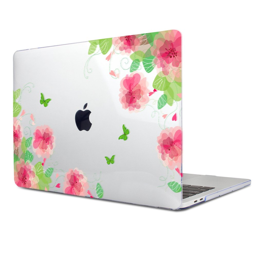 Batianda Crysta Case for MacBook Pro 13 with Retina Display Clear Painting Hard Protective Cover Shell Model:A1502 / A1425 (Cherry Blossoms)