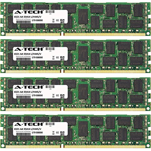 Ibm Server Memory - 64GB KIT (4 x 16GB) For IBM-Lenovo Power Server Series 750. DIMM DDR3 ECC Registered PC3-10600 1333MHz Dual Rank RAM Memory. Genuine A-Tech Brand.