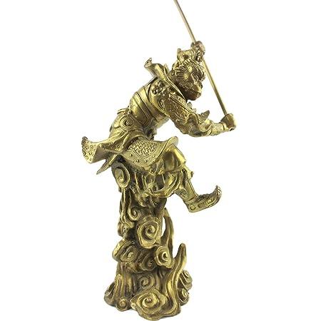I-MART Brass Monkey King Statue Figurine 5