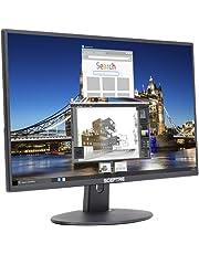 "Sceptre E205W-16003R 20"" 75Hz Ultra Thin Frameless LED Monitor 2x HDMI VGA Build-in Speakers, Metallic Black 2018"