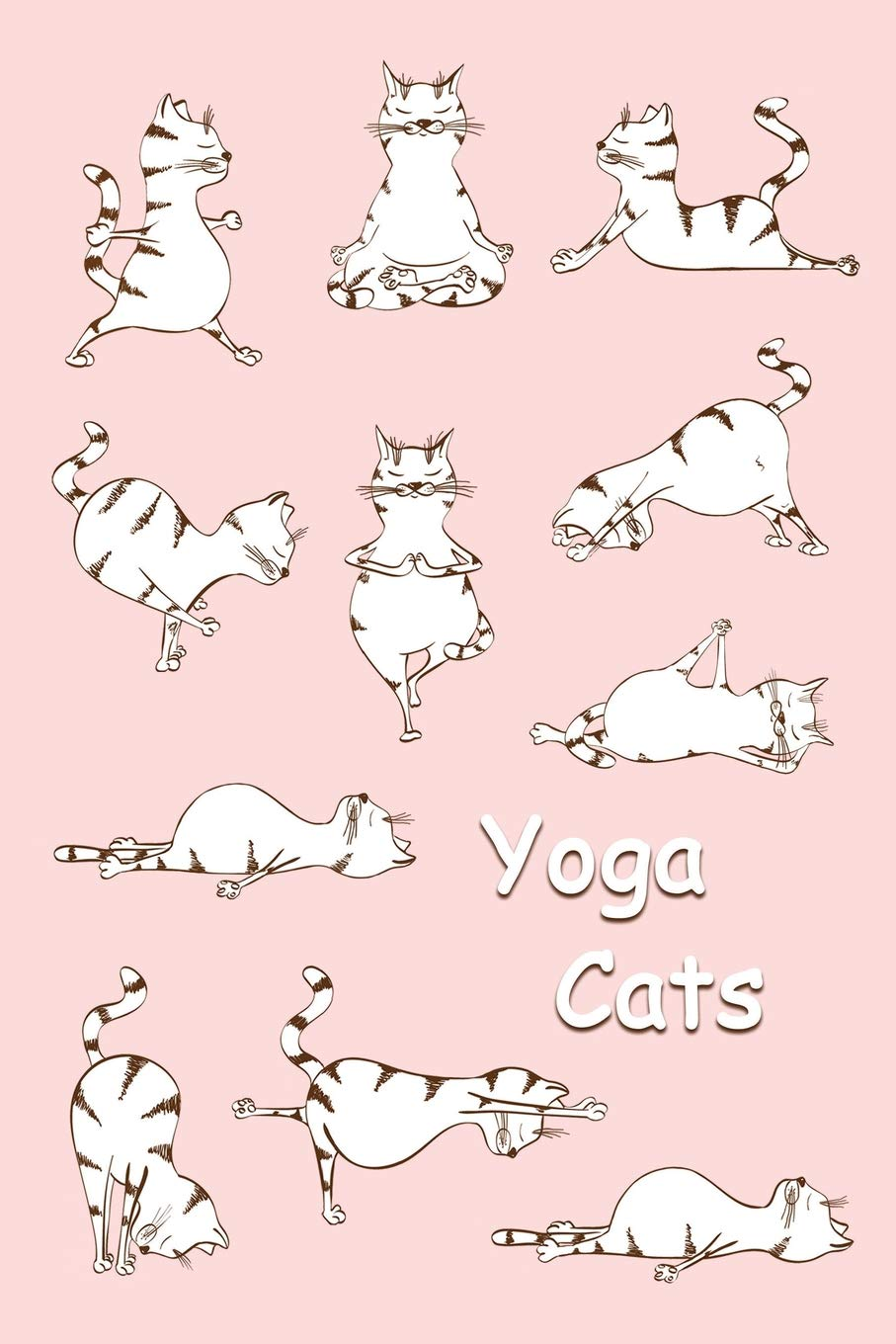 Sketchbook: Yoga Cats Pink 6x9 - BLANK JOURNAL WITH NO LINES ...