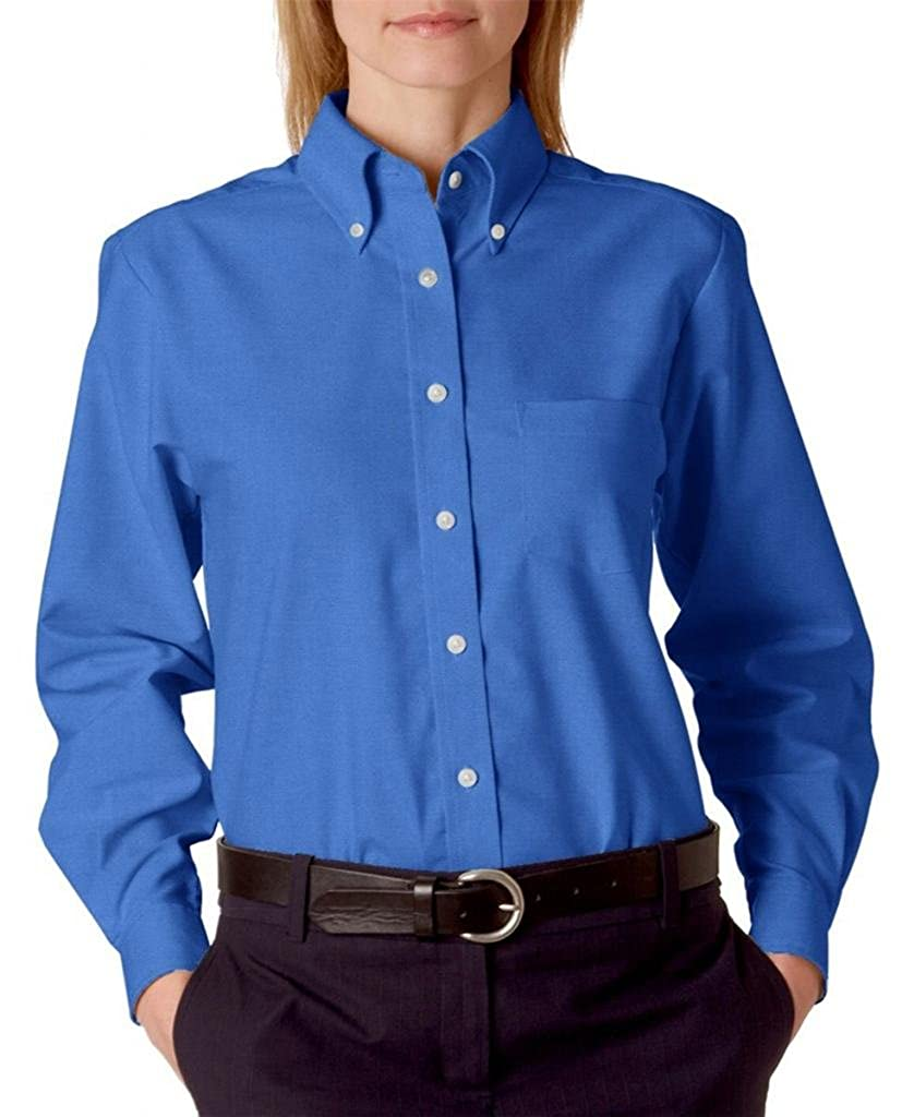 Blue button up shirt womens south park t shirts for Wrinkle free dress shirts amazon