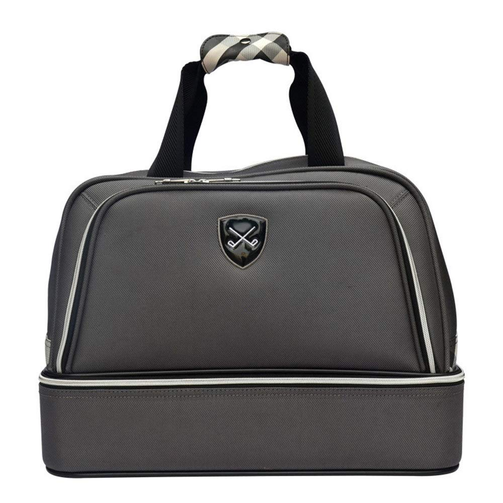 Disc Golf Bag Golf Clothing Bag Men's Golf Bag Double-layer Handbag Shoe Bag Outdoor Lightweight Fitness Gym Bag Travel Tote For Men Women High capacity ( Color : Gray , Size : 452634cm )