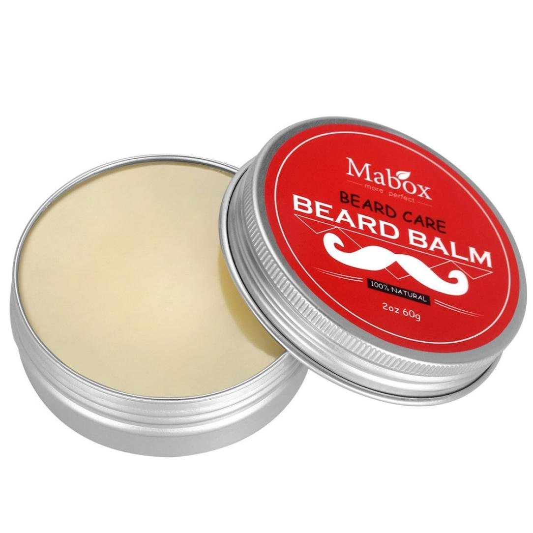Webla Men's 60g Natural Beard Balm Leave-in Moisturizing Beard Conditioning Softener Cream Stopping Beard Itch and Flakes