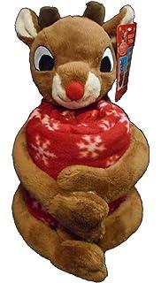 Rudolph The Red-Nosed Reindeer Christmas Plush Doll Fleece Throw Blanket ( Rudolph) a2ed9d4e9