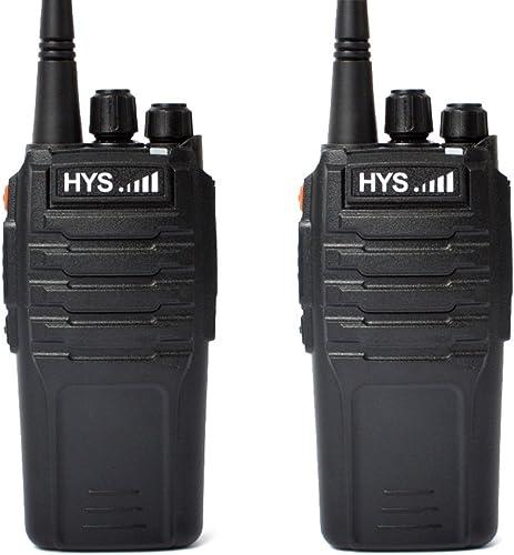 Walkie Talkie 10W 70CM HYS TC-P10W UHF 400-480 MHz 16CH Scrambler 2 Way Radio Handheld Transceiver with 2200Mah Li-ION Battery Ham Amateur Radio communicador 2Packs