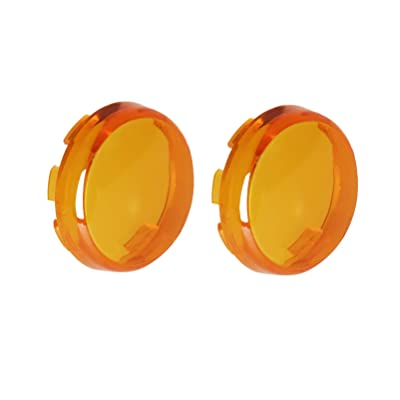 NTHREEAUTO Bullet Turn Signal Light Lens Amber Cover Compatible with Harley Dyna Street Glide Road King: Automotive