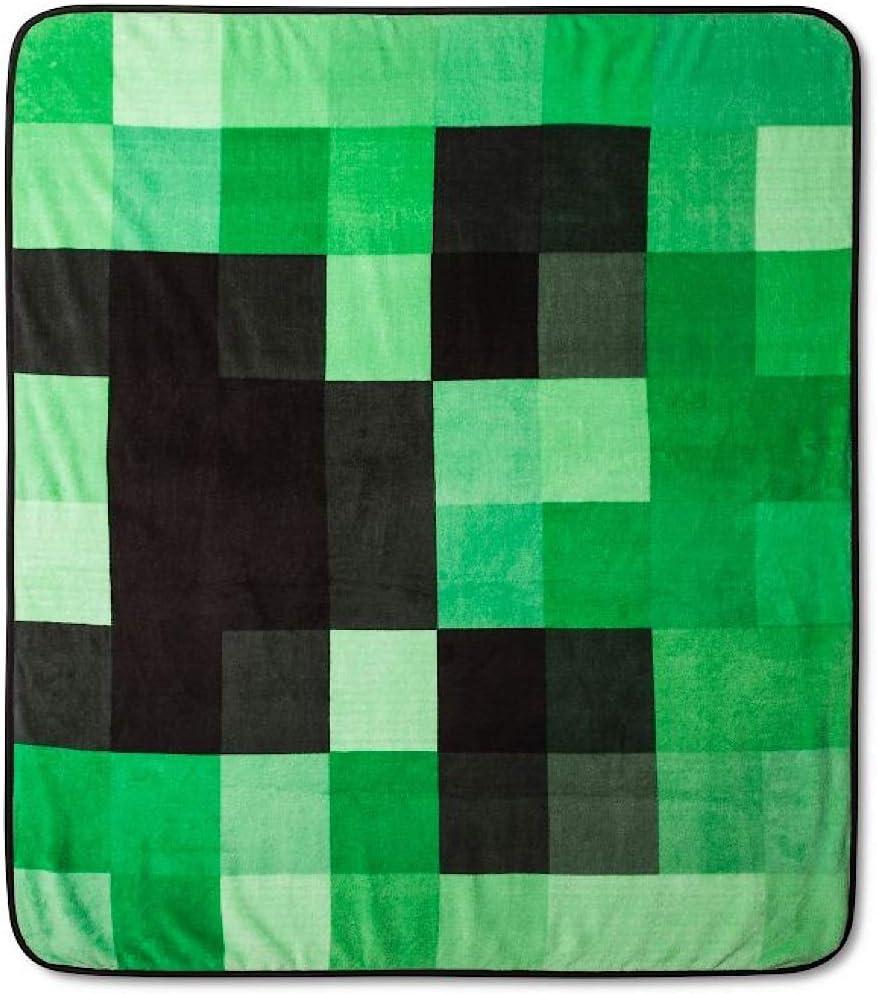 Minecraft Creeper Plush Throw Blanket - 11 in. x 11 in.