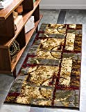Unique Loom Barista Collection Abstract Vintage Modern Rustic Warm Multi Runner Rug (2′ x 6′) Review