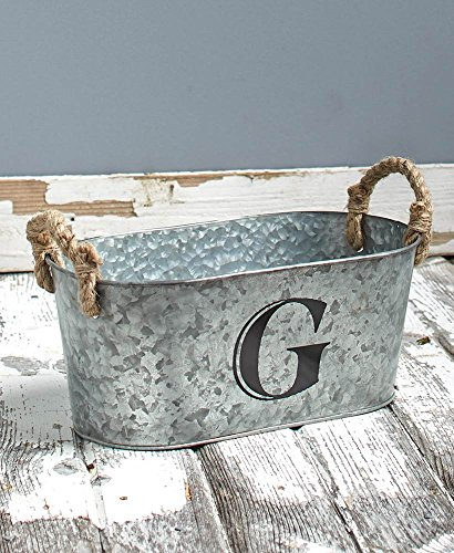 The Lakeside Collection Galvanized Monogram Bucket - G