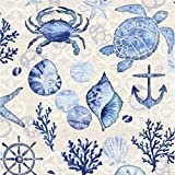 Cypress Home By the Sea Paper Cocktail Napkin, 20 Count