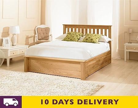 Super Emporia Beds 6Ft Super King Size Monaco Oak Ottoman Storage Dailytribune Chair Design For Home Dailytribuneorg