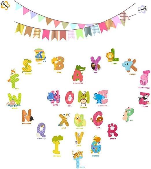 English Alphabet Animals Childrens Room Nursery Room Kids Room Wall Decal Sticker