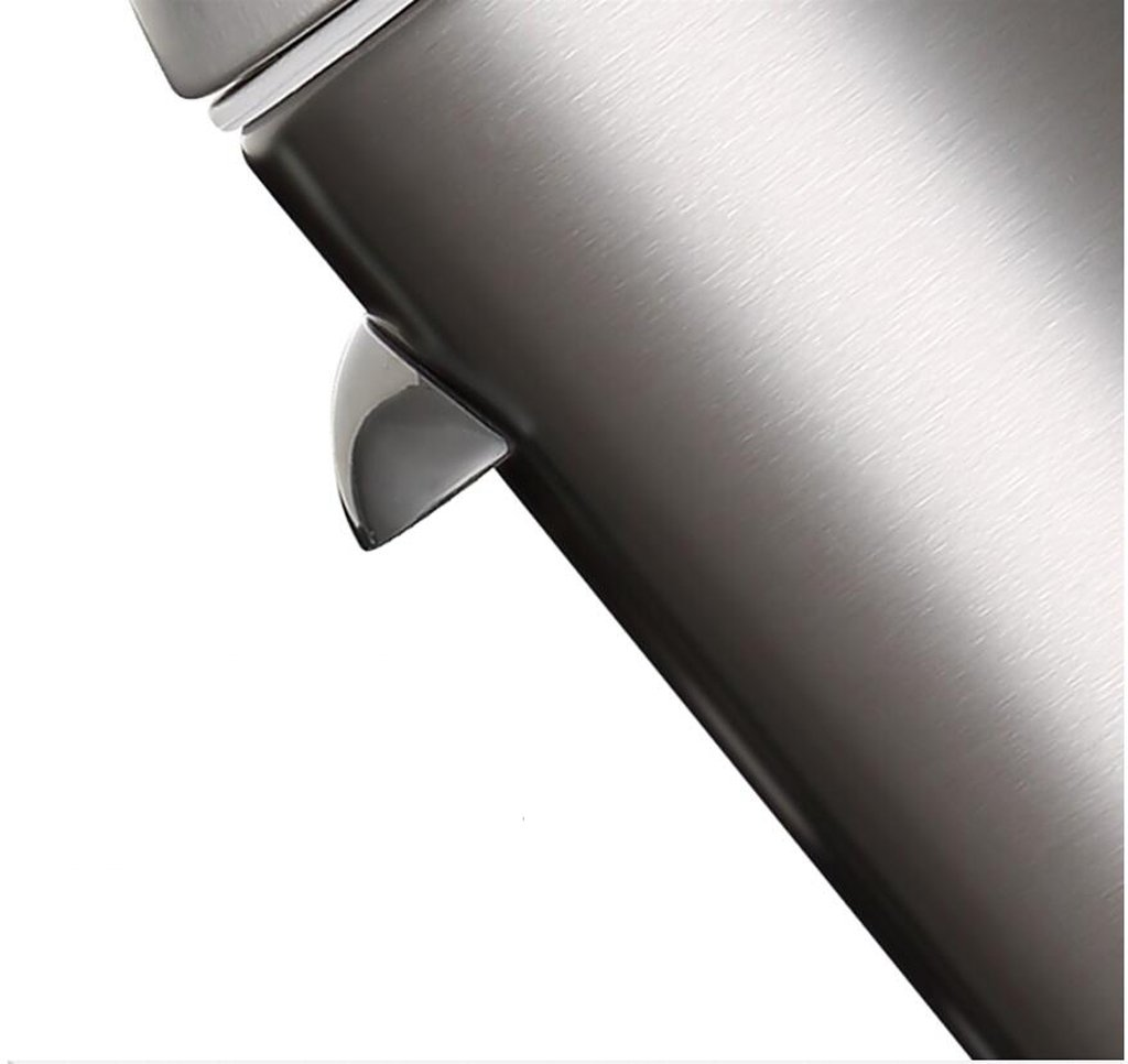 Stainless Steel Foot Trash Cans Household Kitchen Trash Toilet Office Cover Mute 5L ( Color : Sand steel ) by LITINGMEI Refuse Bin (Image #4)