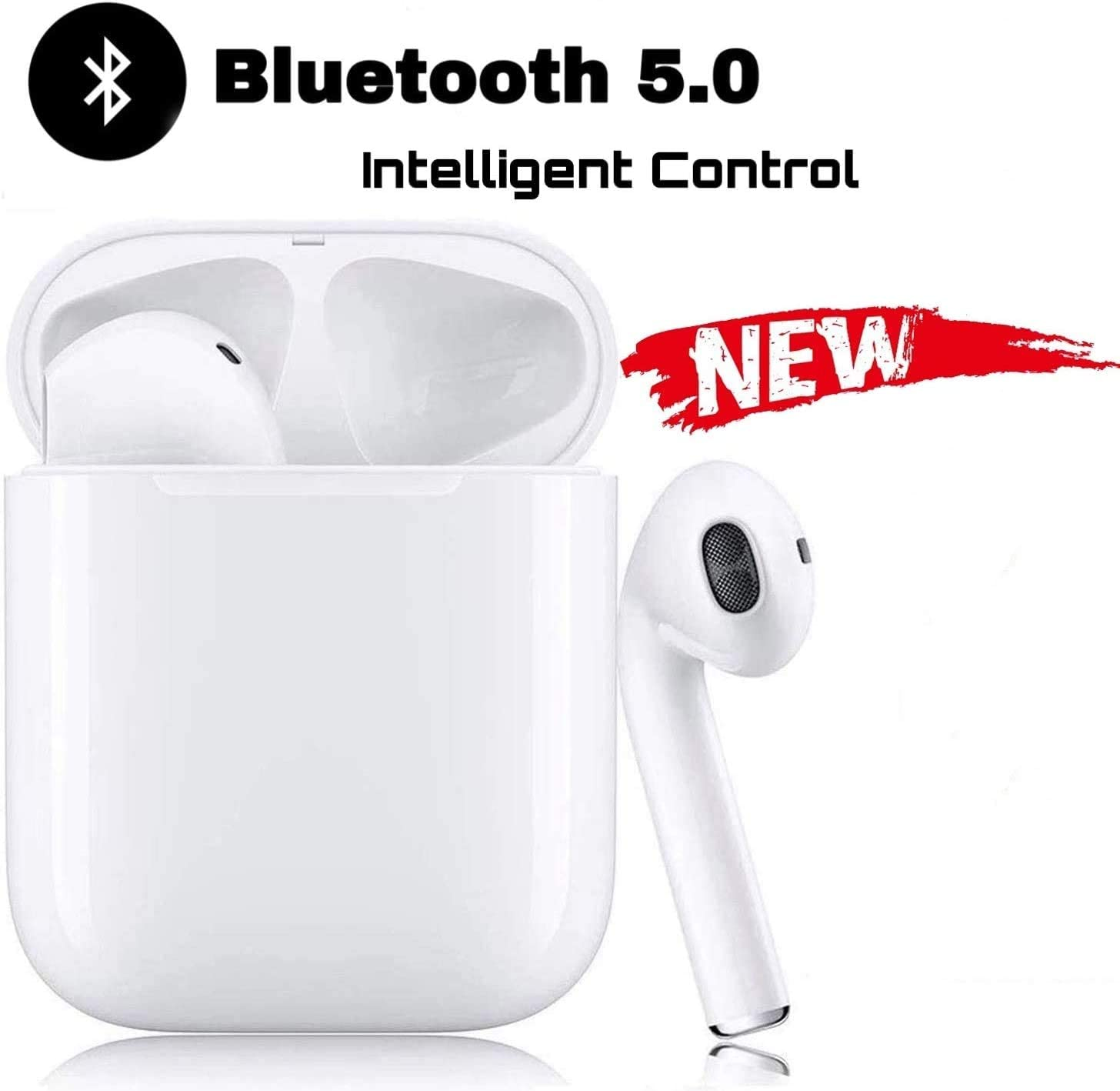 Auriculares Inal/ámbricos Bluetooth In-Ear Mini Auriculares Auriculares,Emparejamiento Autom/ático Emergente,Deportivos para Android//iPhone Airpods//Xiaomi//Huawei//Samsung Auriculares Bluetooth