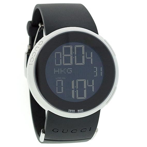 Gucci YA114401 - Reloj de Pulsera Mujer, Caucho, Color Negro: Amazon.es: Relojes