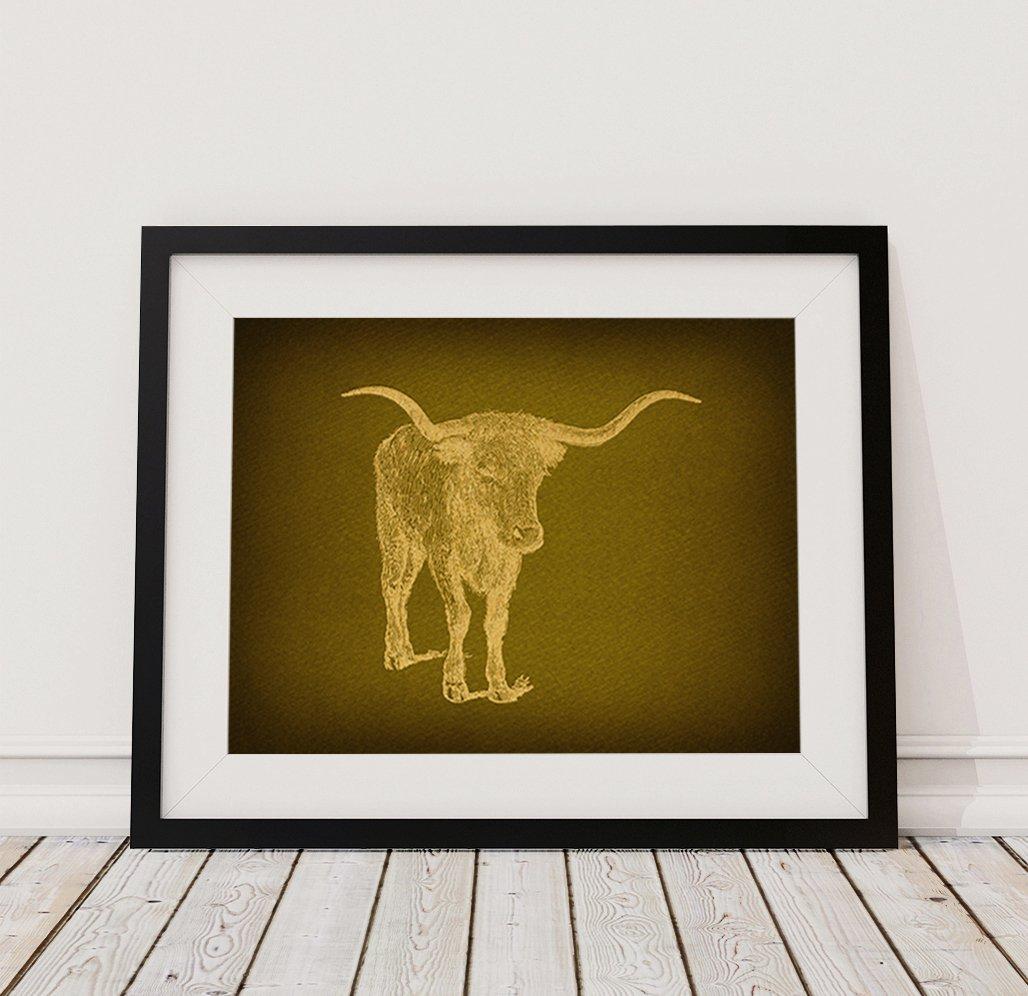 Amazon.com: Classic Vintage Bull Western Wall Art & Farm House ...