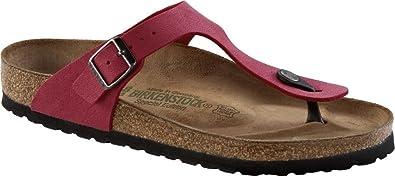 Birkenstock Gizeh Damen Sandalen, Brushed Crimson, 40 Eu